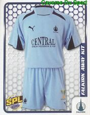 128 AWAY KIT SCOTLAND FALKIRK.FC STICKER SCOTTISH PREMIER LEAGUE 2010 PANINI