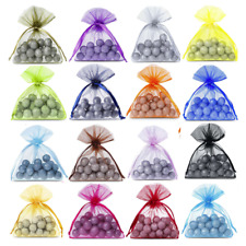 10x Organza Bags Wedding Favour Jewellery Gift Party Mesh Pouches Drawstring