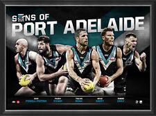 Port Adelaide Sons of the AFL Official Licensed Limited Edition Print Framed