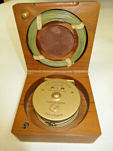 Scientific Anglers 50th Anniversary Fly Reel, Walnut Case and Gold SA Line