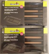 """NEW Lot of 2 Universal 11.5"""" expandable Porcelain Grate Char-Broil Sealed"""