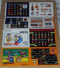 Japanese NES Famicom History Book Jumbo Stickers - Mario Bros & Dr. Mario