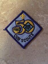 VINTAGE 1980 50TH CUB SCOUTS PATCH