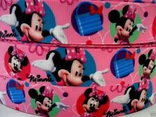"Grosgrain Ribbon 7/8"" Minnie Mouse MN12  PINK  ( COMBINE SHIPPING )  USA SELLER"