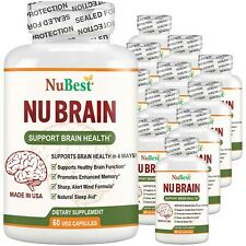 Pack of 12 NuBrain Support Brain Health & Cognitive Functions, Enhance Memory