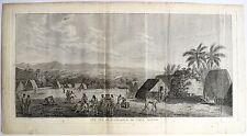 Eau-forte, James Cook débarque sur l'Isle d'Atooi, Bénard