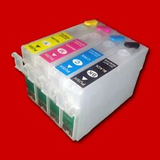 4x Fill in Refill Cartridges CISS for Epson WF 2670 2700 2750 2760 DWF no OEM