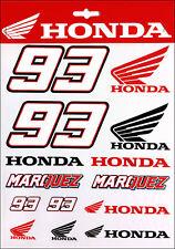 Marc Marquez Honda Aufkleber - Sticker, 1 x 14 Stück (Set 9A)