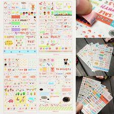6 Blätter Papier Aufkleber Sticker Scrapbook Kalender Tagebuch Planer Dekor SO