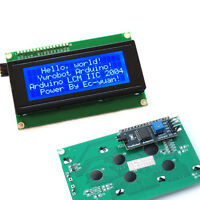 IIC/I2C/TWI Serial LCD 2004 20x4 Display Shield Blue Backlight for Arduino 77g