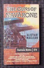 1961 THE GUNS OF NAVARONE Alistair MacLean VG+ 4th Fontana UK 332 Gregory Peck