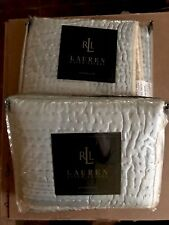 2 New Ralph Lauren Villandry Silk Quilted King Shams Orig. 425.00