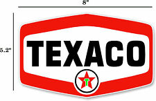 "Pair of Texaco Star 9/"" Vinyl Decals DC120E"