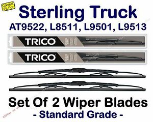 Wipers 2-Pack - fit 1999-2000 Sterling Truck AT9522 L8511 L9501 L9513 - 30200x2