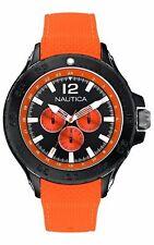 Nautica Mens  Stainless Steel Japanese Quartz GMT 55 A18674G Retail $185