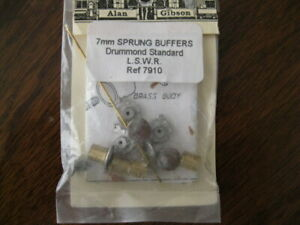 ALAN GIBSON  L.S.W.R 7mm SCALE SPRUNG BUFFERS - NEW