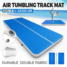 4x2x0.2m Air Track Floor Tumbling Inflatable Gym Yoga Mat Pro 1.2Mm PVC Fitness