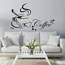 Fashion DIY Coffee Cup Heart Beauty Removable Home Kitchen Art Mural Decor