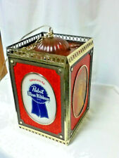 Pabst beer sign lighted hanging wall sconce Nos motion spinning light vintage