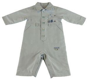 JACADI Boy's Resolution Sky Blue Jumpsuit Size 12 Months $66 NWT