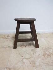 Antique Rustic Shaker Primitive Oak Milking Foot Stool Ottoman Bench A