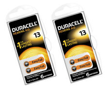 12 x Duracell 13 Hearing Aid Batteries Orange Tab Activair 1.45v PR48 Easytab