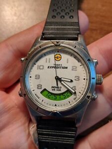 Vintage Men's Timex Expedition Analog Digital Watch -New strap + Battery