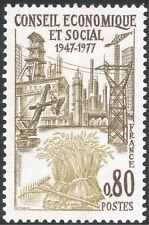 France 1977 Coal Mining/Oil/Tractor/Factory/Industry/Farming/Transport 1v n43842