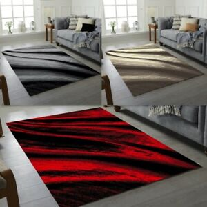 New Modern Rugs Wave Pattern Small Extra Large Bedroom Living Room Floor Rug mat