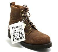 161 Bottes en Cuir Prime Chaussures à Lacets Travailleur Pays Western 38