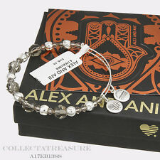 Authentic Alex and Ani Moon Beaded Swarovski Crystal Shiny Silver Bangle