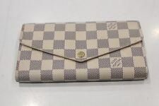 Louis Vuitton Sarah Long Wallet Damier Azur N63208