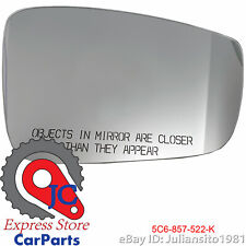 5C6857522K VOLKSWAGEN GENUINE 2011 2018 JETTA CONVEX MIRROR HEATED CARRIER PLATE