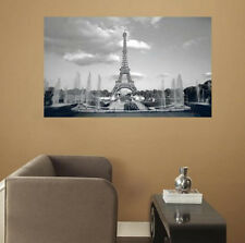 EIFFEL TOWER wall stickers MURAL 2 big decals Paris building room decor