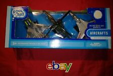 Kool Toyz 3 PC SET AIRCRAFTS W STANDS Helicopter AIR PLANES Brand New IN BOX WOW