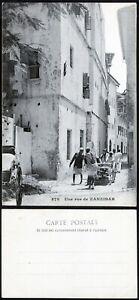 Zanzibar Cover Cover Postcard 578 Une Rue de Zanzibar Unused #2