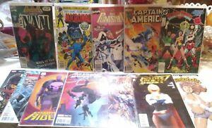 Marvel DC Comics Lot of 12 books.  Punisher Deadpool Moonknight Powergirl WW++