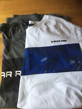 TWO G STAR RAW T SHIRTS SIZE L ONE WHITE ONE GREY