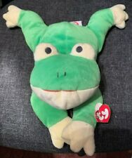 Ty The Pillow Pal Collection 1996 'Ribbit' Green & Yellow Frog
