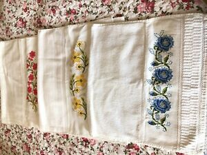Hand Embroidered Traditional Turkish Cotton Towel 50x80 cm. 4 pieces
