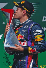 Sebastian Vettel Signed 8X12 inches 2013 Red Bull Canada GP Photo