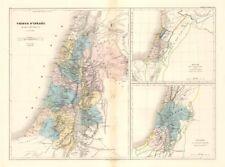 Tribus d'israel/Royaume des israelitas & C. Dufour. 12 tribus de Israel Mapa c1840