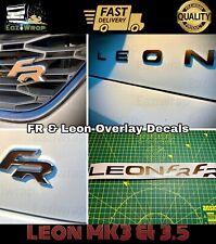 "Eaziwrap Leon MK3/3.5 ""FR"" & ""Leon"" Badge Overlay Sticker Decal COPPER Or BLACK"