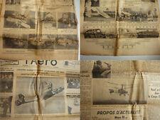 Aviation, Auto, Moto, lot de 62 journaux L'Aéro,1935 à 1938, port gratuit!