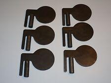 "6 - 3/8"" AR500 Steel Dueling Tree Paddles & DOM tubing set DIY Dueling Tree Set"