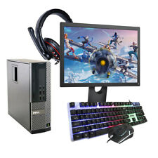 GAMING PC DELL HP COMPUTER BUNDLE WINDOWS 10 QUAD THREAD i3 8GB 500GB GT 710