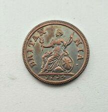 1714 Moneda Farthing relleno Jorge III