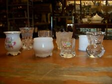 Vintage Estate Lot of 8 EAPG  Glass, Porcelain and Milkglass Toothpick Holders
