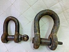 Clevis Shackles Maritime Vintage Heavy Duty Pin Anchor Hook Rope Rigging Lot x2