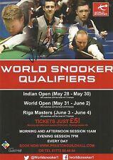 World Snooker Qualifiers 2016 Preston Flyer. Personally Signed by Yu De Lu.